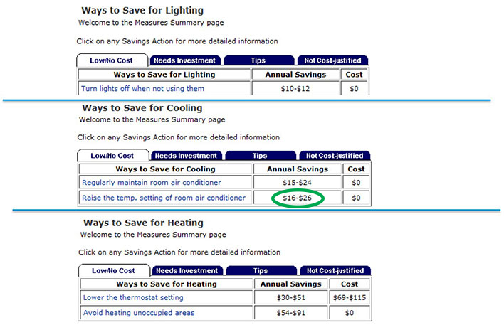 Select Actions To Lower Your Bill